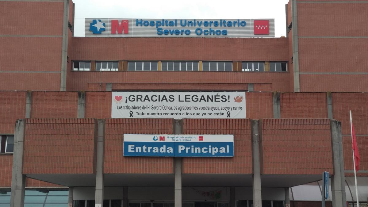Hospital Universitario Severo Ochoa, en Leganés.