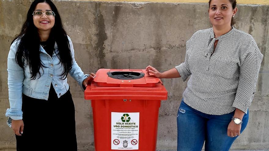 Contenedores para la recogida de aceite vegetal de uso doméstico.