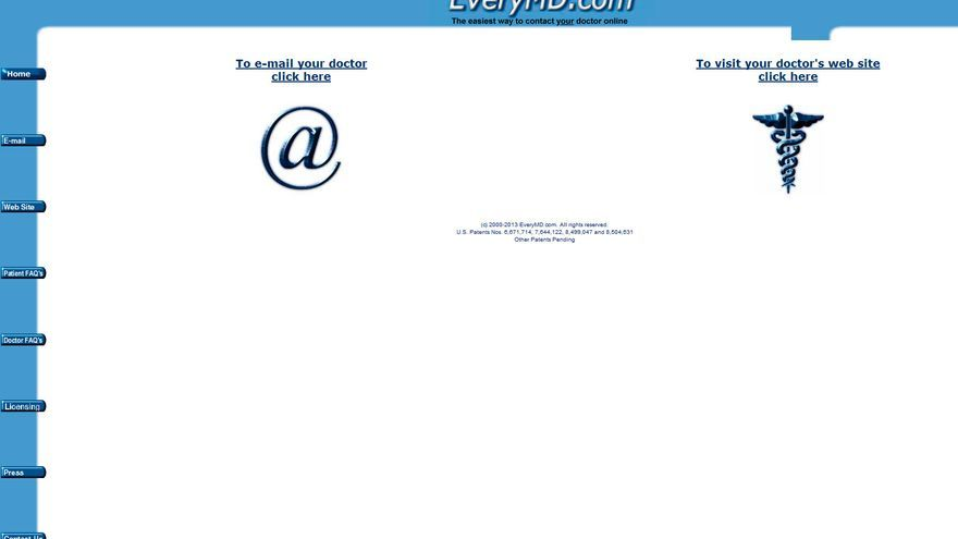 Captura de pantalla de EveryMD.com