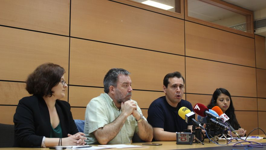 Rosa Crespo, Nacho Tornel, sergio Ramos y Margarita Guerrero, candidatos de Cambiemos Murcia / PSS
