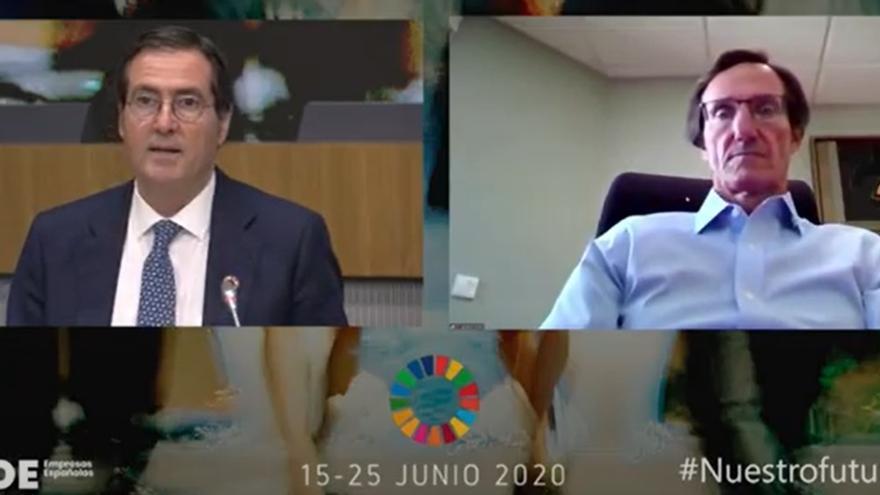 Antonio Garamendi y Juan Ignacio Vivas, este jueves.
