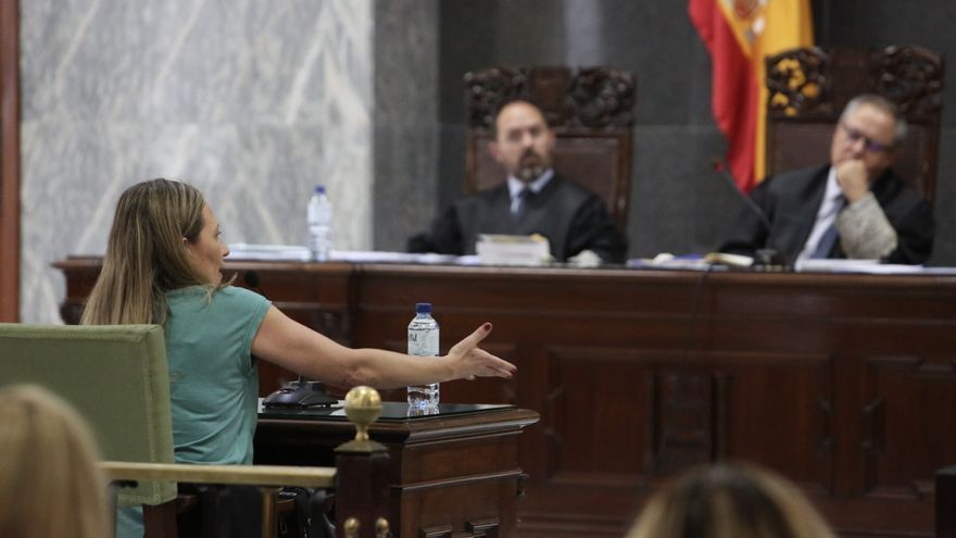 Victoria Rosell, declarando en la segunda sesión del juicio contra Salvador Alba.