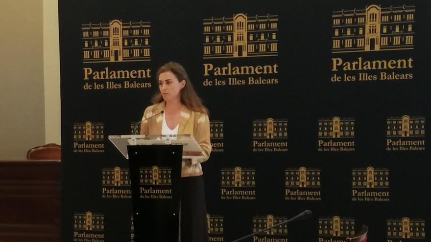 La diputada parlamentaria de Vox Idoia Ribas.