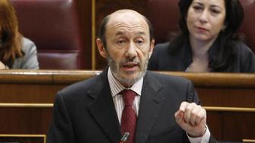 Ministro de Interior, Alfredo Pérez Rubalcaba