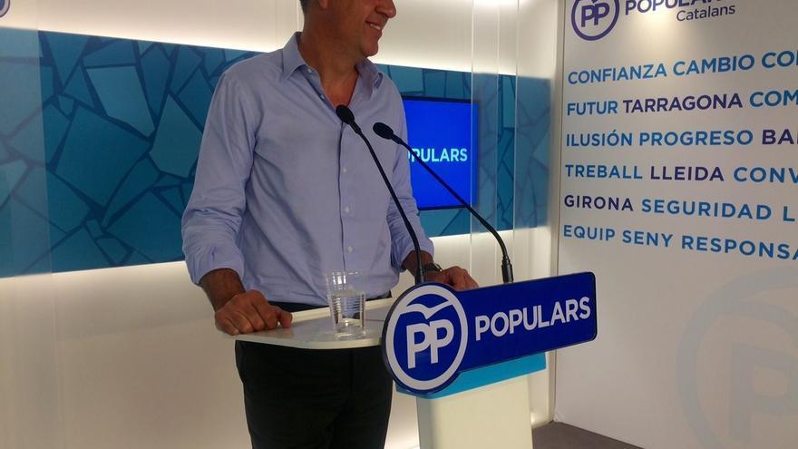 """Albiol (PP) cree que puede captar voto """"centrista"""" después de que PSC se defina independentista"""