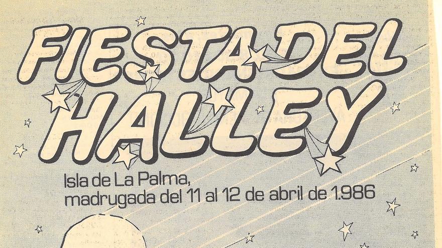 Cartel de la Fiesta Halley.