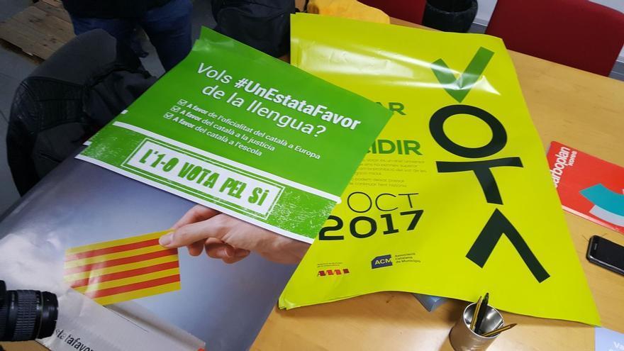 Propaganda electoral secuestrada por la Guardia Civil