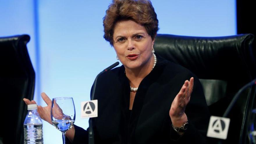 Dilma Rouseff en la conferencia celebrada en Casa América.