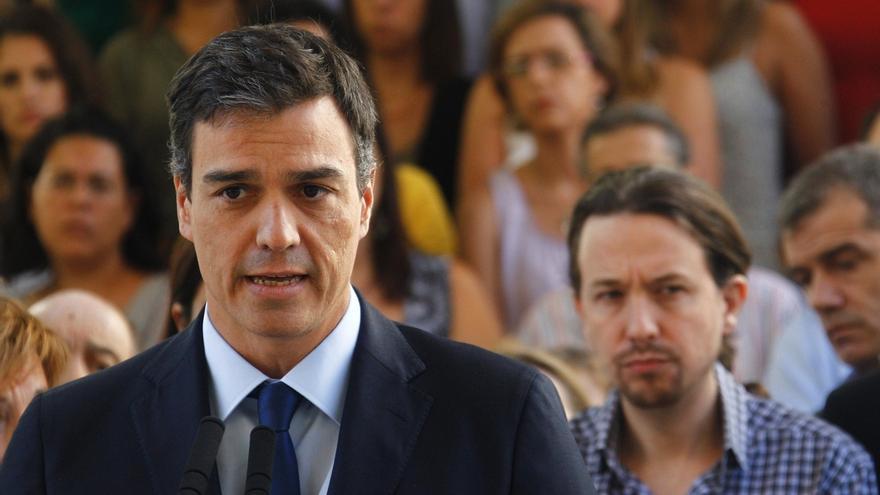 Pedro Sánchez confirma que ha hablado con Pablo Iglesias, como con otros líderes, pero insiste en que es tiempo de Rajoy