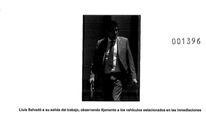 Fotografía de la vigilancia policial a Salvadó