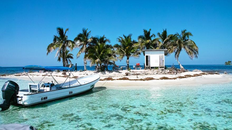 Cayo Ingés, uno de los muchos atolones de la costa de Belice. Miguel Octavio