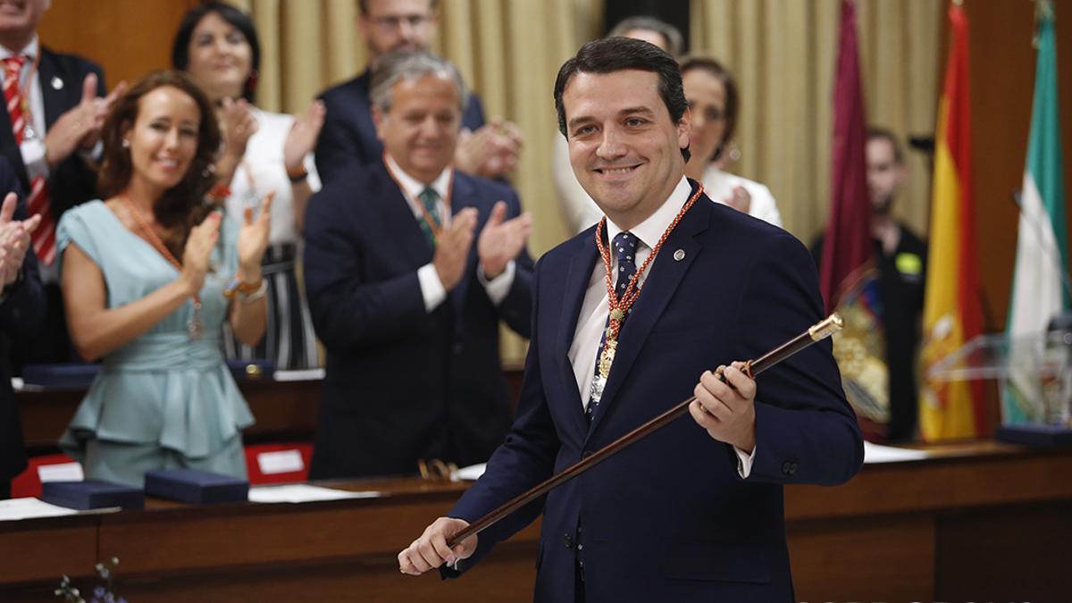 El alcalde, en junio de 2019 tras lograr la investidura