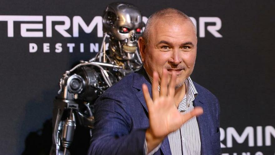"Alfombra roja de la película ""Terminator: Destino Oculto""."