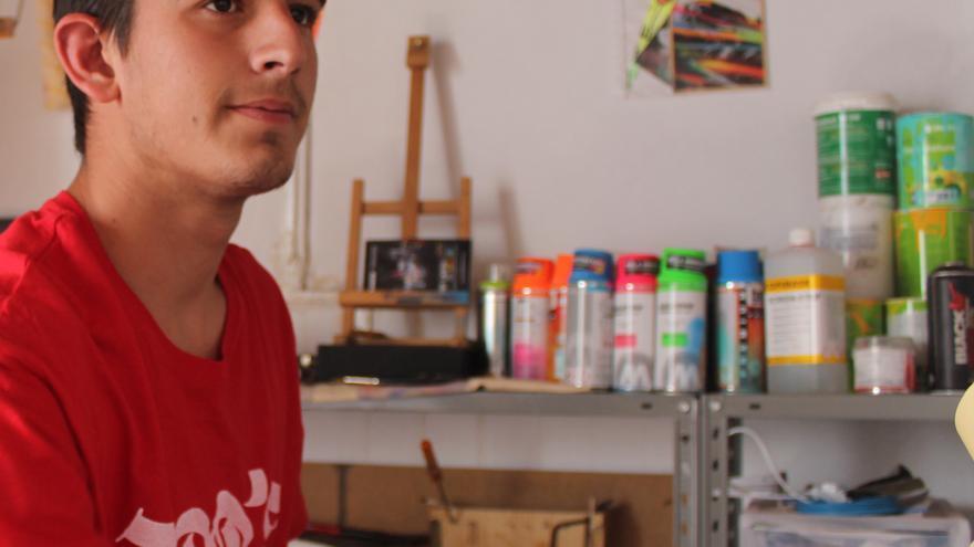 El artista premiado José Pablo Falcón, en una imagen de archivo