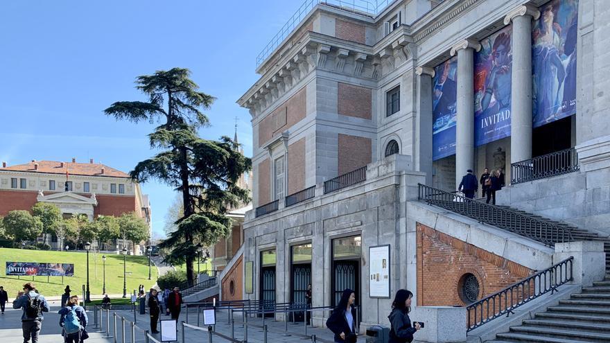 La zona de venta de entradas en el Museo Nacional del Prado, durante la mañana de este miércoles
