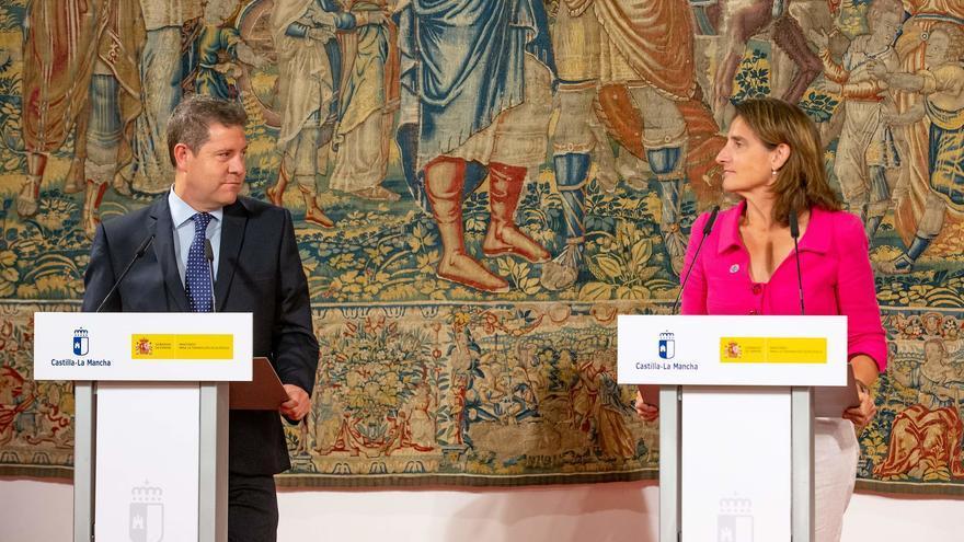 Emiliano García-Page y Teresa Ribera, tras su reunión en Toledo