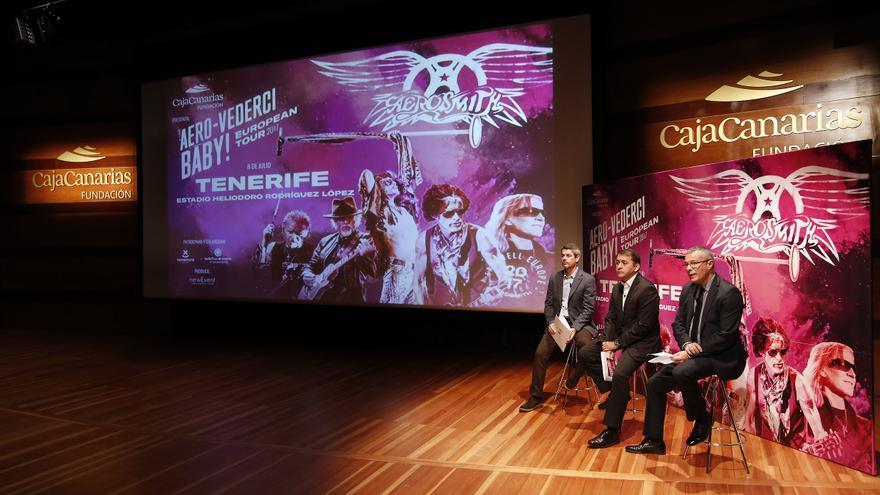Presentación del concierto en Tenerife, el pasado 29 de diciembre