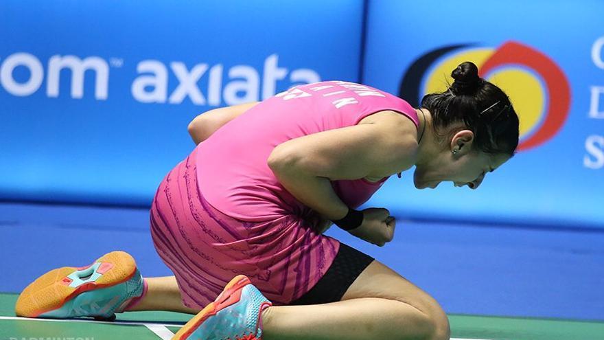Carolina Marín cada vez está más cerca de lograr su primer titulo del año, pero se le resiste