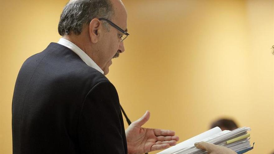 Norberto Plasencia, exconcejal de Santa Cruz, en la vista oral del juicio por el caso Siliuto, este martes