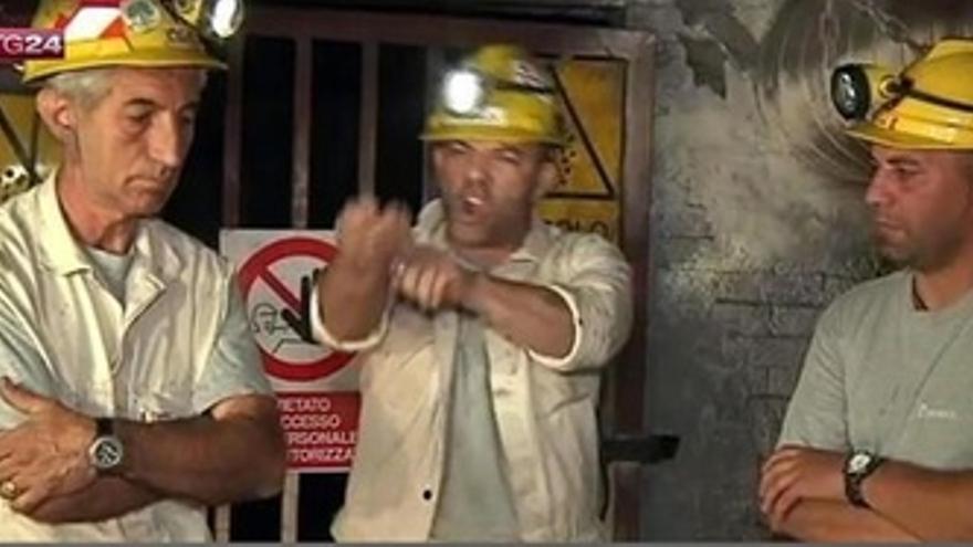 Stefano Meletti, líder minero en Cerdeña se corta las venas como protesta