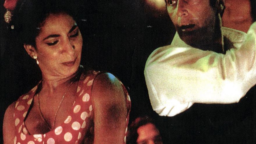 Al Pacino bailando flamenco con Elena Andújar y Tomatito en 'Pactar con el Diablo'.