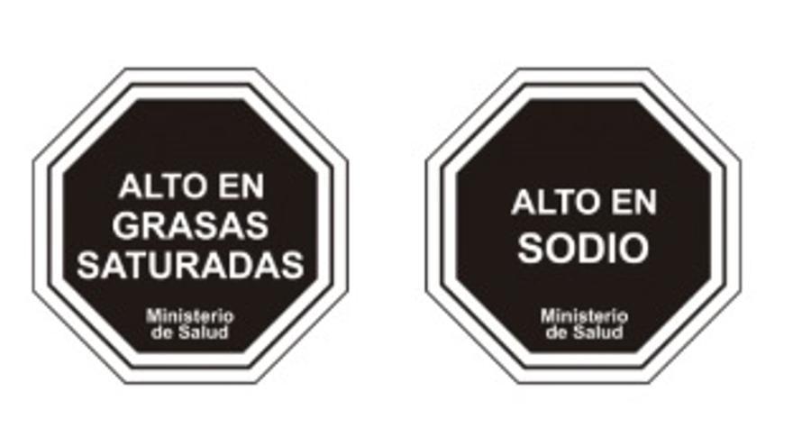 Las etiquetas de Chile a los alimentos.