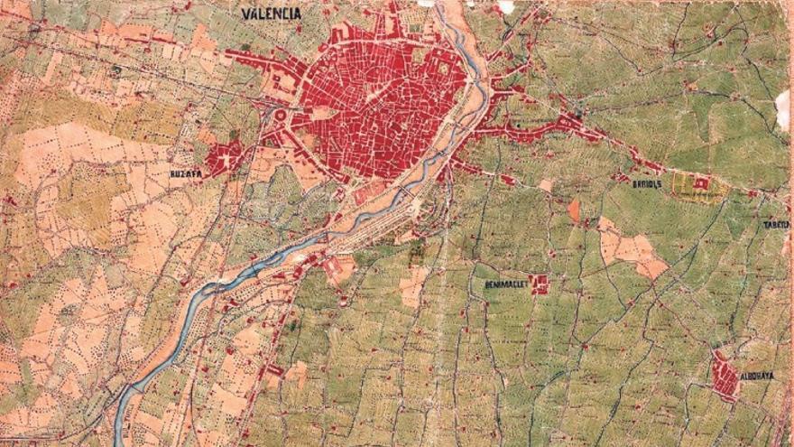 Un mapa de València.