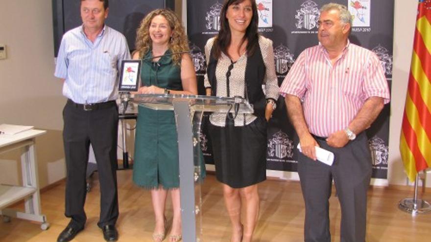 Ginés Sánchez, Pepa Ferrando, Mónica Lorente y José Antonio Aniorte, cuatro de los concejales del PP Orihuela imputados.