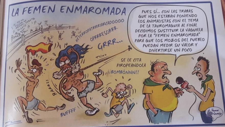 Viñeta 'Femen enmaromada'