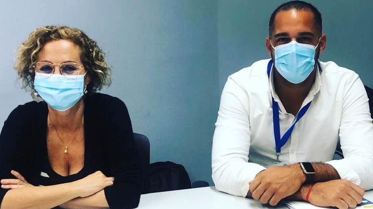 Mercedes Coello y Kilian Sánchez.