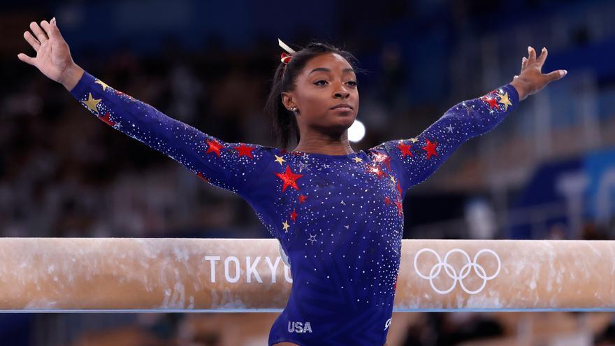 Simone Biles en los Juegos Olímpicos de Tokyo 2020.