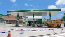 Precinto de la gasolinera de Tegueste.