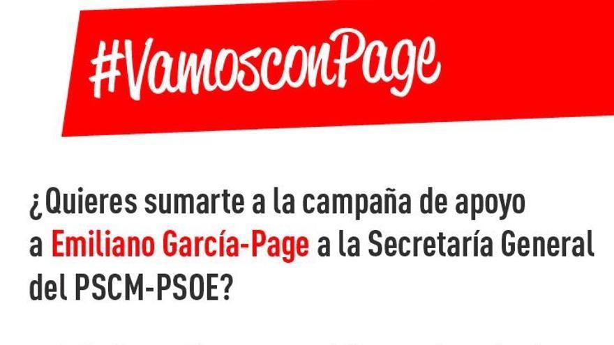 Petición de la candidatura de Emiliano García-Page a los militantes
