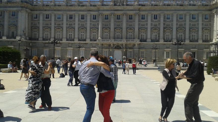 El colectivo Tango Patio, en una de sus actividades.