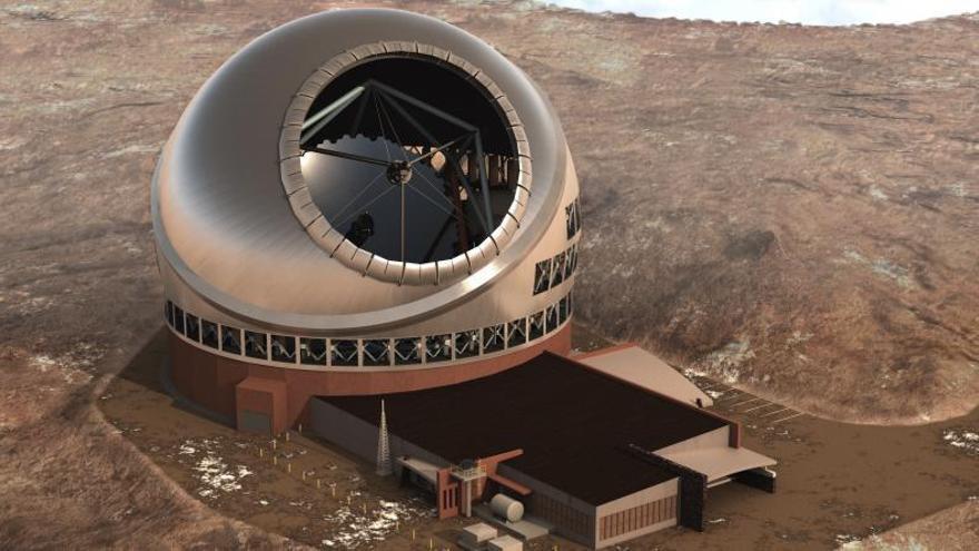 Recreación del futuro Telescopio de Treinta Metros.