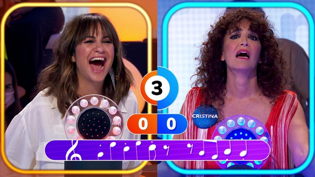 Melani Olivares y Cristina Rodríguez en 'Pasapalabra'