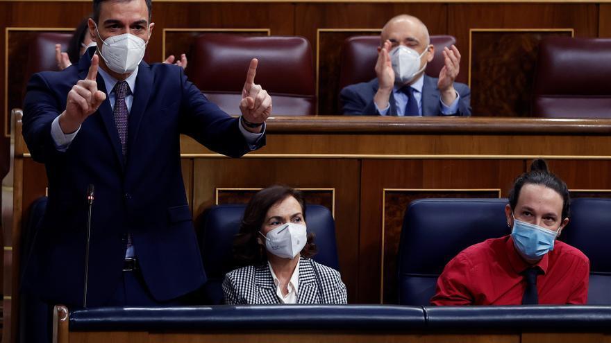 """Sánchez e Iglesias unen voces contra el """"transfuguismo y corrupción"""" del PP"""