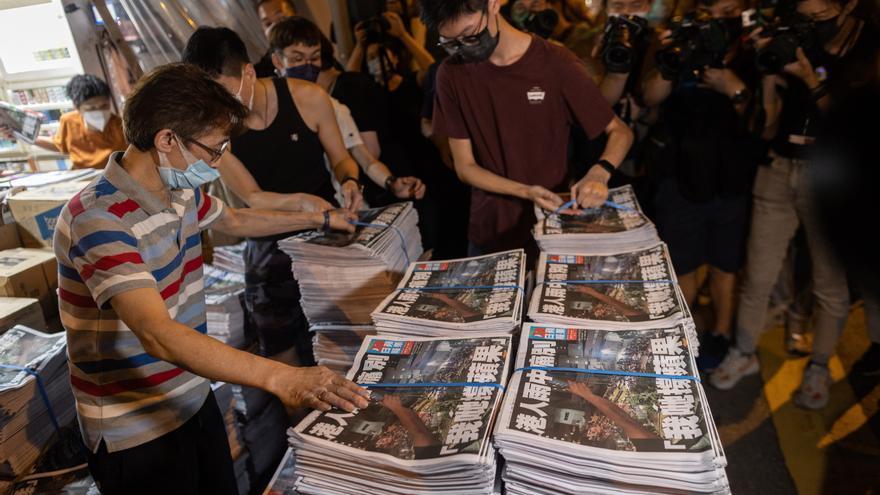 Detenido un periodista del diario Apple Daily en el aeropuerto de Hong Kong