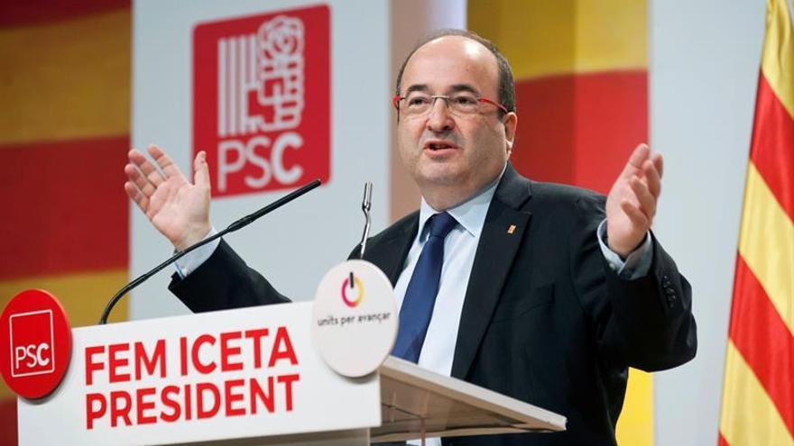 """Iceta pide """"concentrar"""" en el PSC el voto progresista para pilotar el """"cambio"""""""