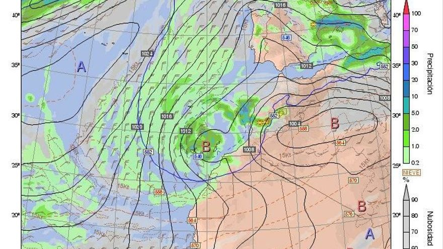 Los efectos de la borrasca en Canarias se extenderán hasta el martes.