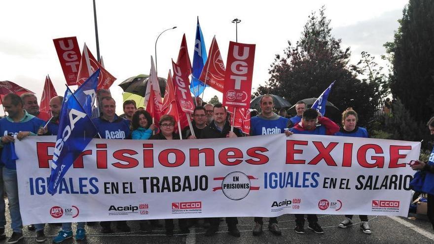 Manifestación de funcionarios de prisiones