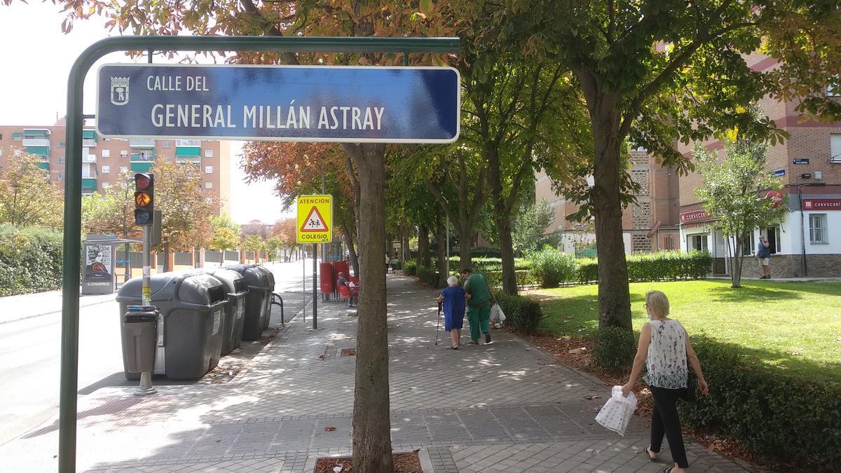 Millán Astray vuelve al callejero de Madrid.