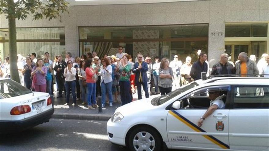 De protestas de funcionarios en LPGC #13