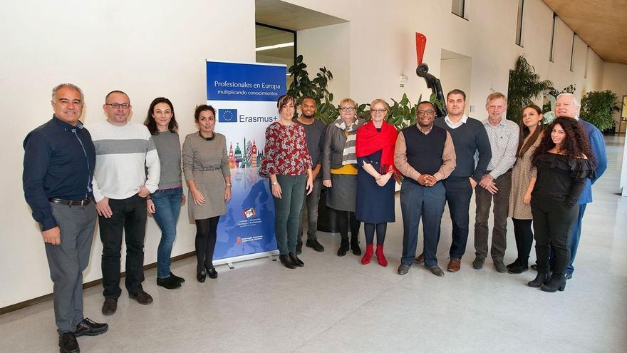Holanda, Rumanía, Austria y Reino Unido se reúnen con la FP de Navarra en la reunión del proyecto Junior Job Coach