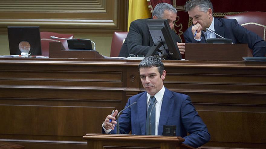 Narvay Quintero, en el Parlamento de Canarias