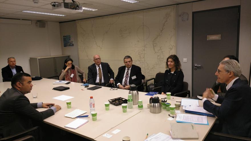 Reunión celebrada este viernes en Bruselas con miembros de la Dirección General de Pesca