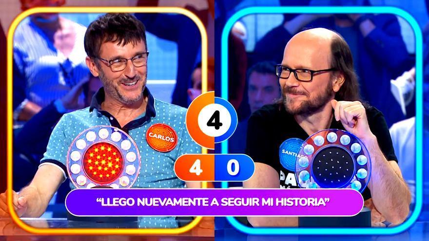 Carlos Chamarro y Santiago Segura en 'Pasapalabra'