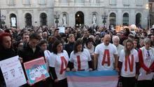 La cocentración para honrar a memoria del joven transexual Alan.