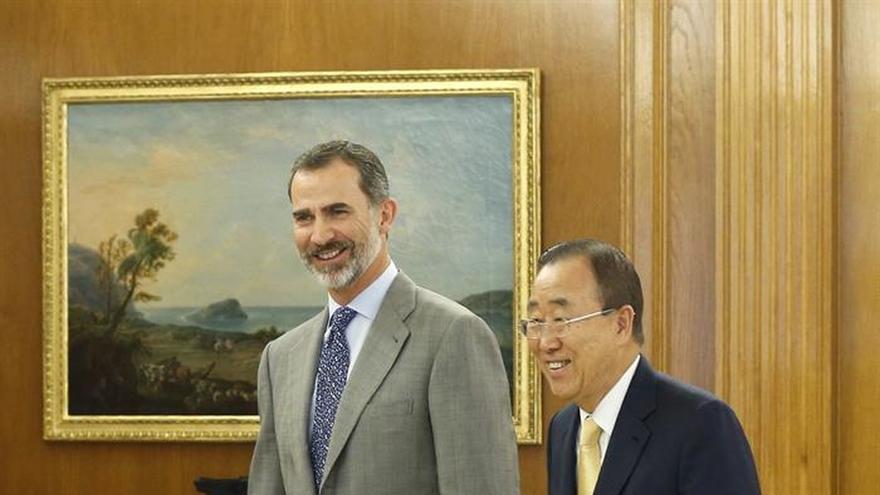 Rey y Ban Ki-moon repasan la colaboración España-ONU y la actualidad internacional