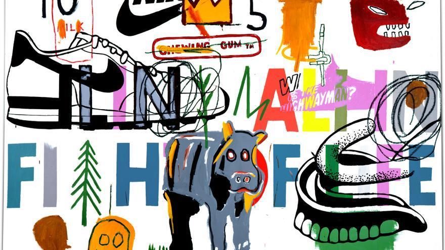 Ali enfermo luchando por la vida (Ailing Ali in Fight of Life), 1984 Jean-Michel Basquiat /Foto: Guggenheim Bilbao